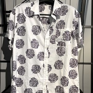 Incerun floral short sleeve button down